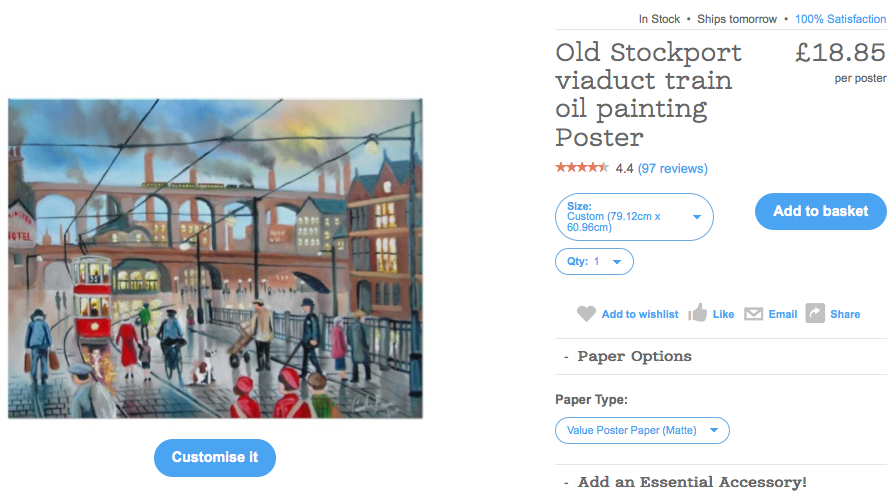 Stockport viaduct painting by Gordon Bruce